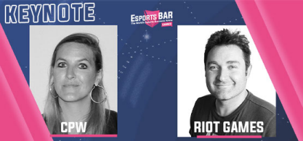 Alban Dechelotte, Head of Sponsorship & Business Development Esport Europe at Riot Games and Bérangère Chalvon Demersay Associate Marketing Manager at CPW